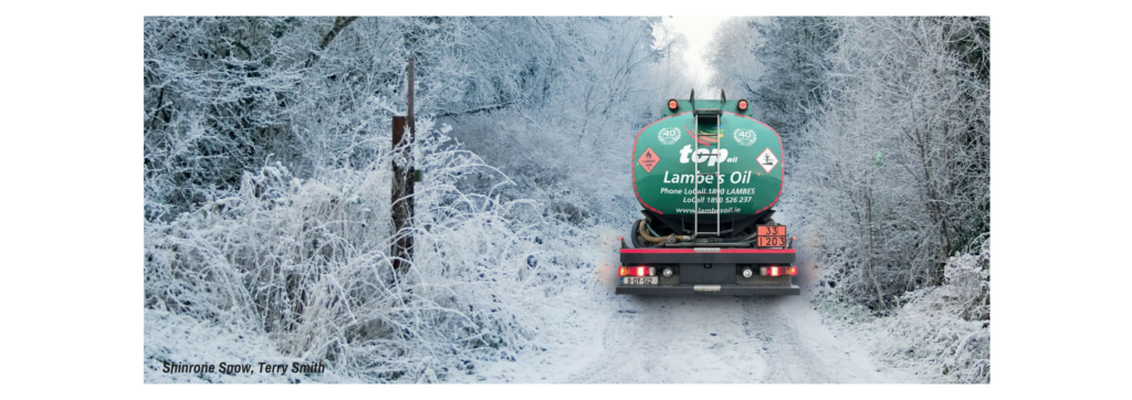 Lambes Oil Delivering Home Heating Oil in the Snow Shinrone Offaly