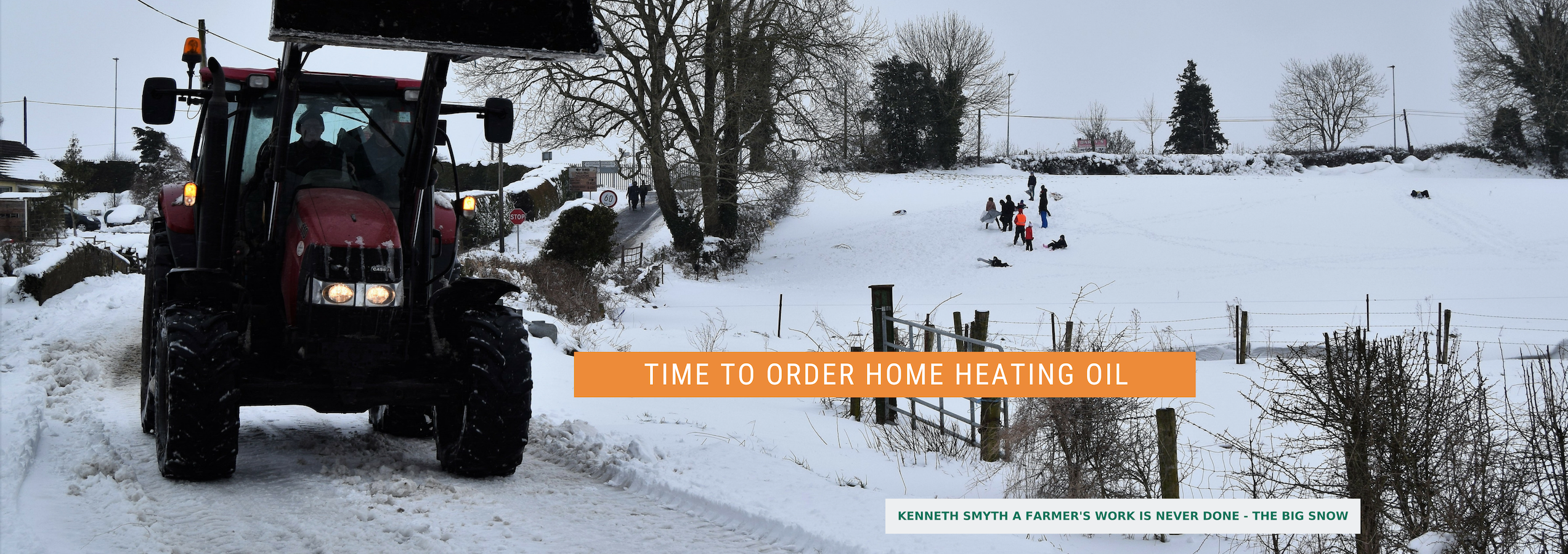 Order Home Heating Oil from Lambes Oil on a snowy day